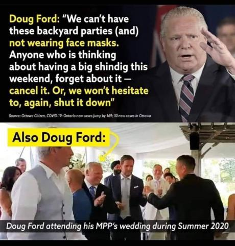 Doug Ford Parties (Summer 2020)